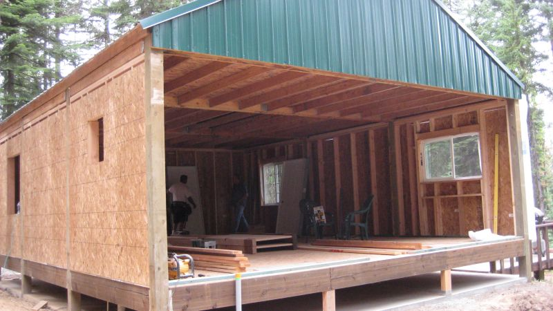 Pole barn cabin joy studio design gallery best design How to build a small pole barn
