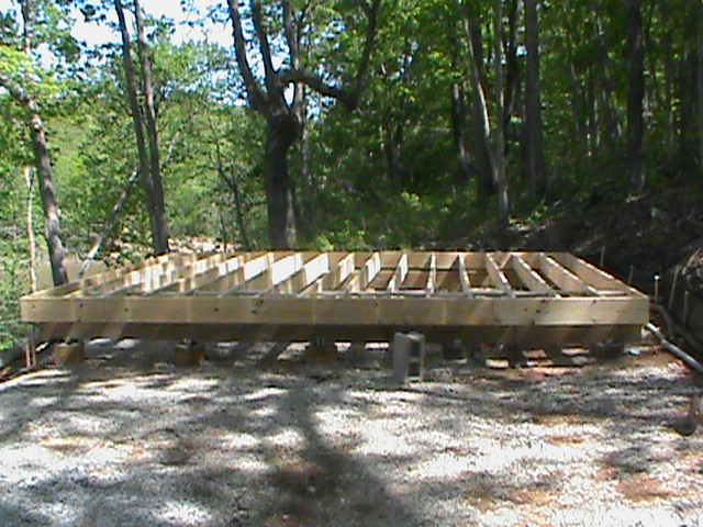 16 39 x 16 39 small cabin forum for Cabin foundation piers