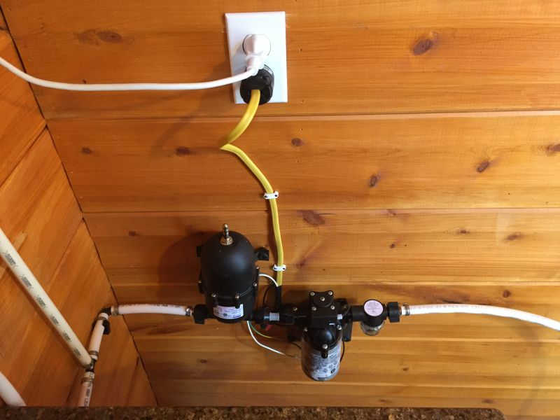 Shurflo Water Pump >> Building water system ideas - Small Cabin Forum