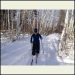Me Crosscountry Skiing at -35C
