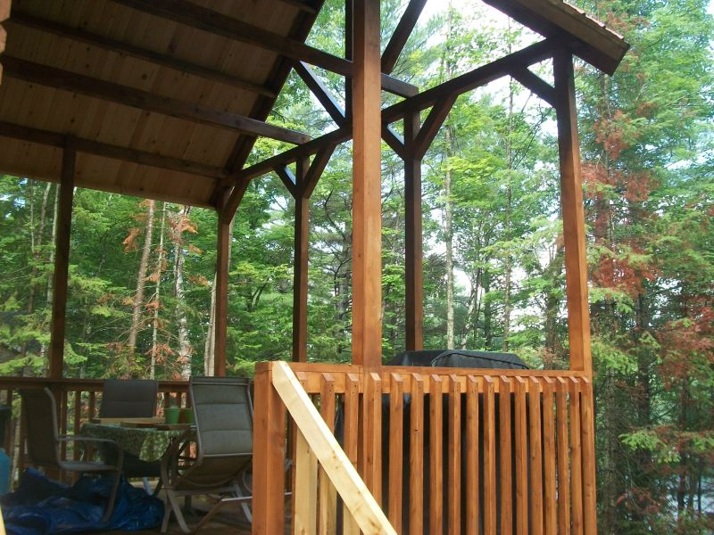 Cabin in quebec 16x38 small cabin forum 1 for Balcony overhang