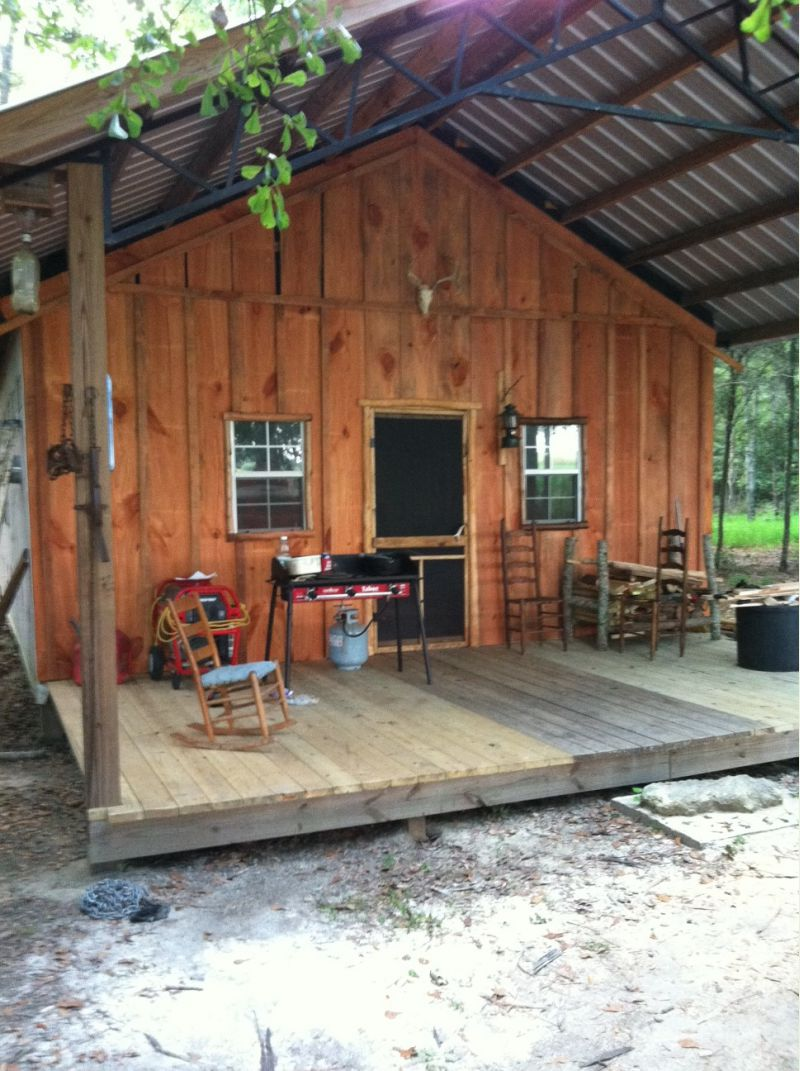 Pole barn cabin shop small cabin forum for Pole barn cabin