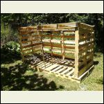 Wood rack, recycled pallets