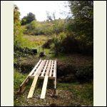 Recycled pallet bridge