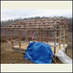 Roof framing & firewood