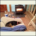 And my big girl enjoying a big fire!