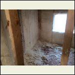 Spray foam bedroom