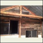 Pallet boards on Gable wall