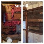 Before/after of the same wall