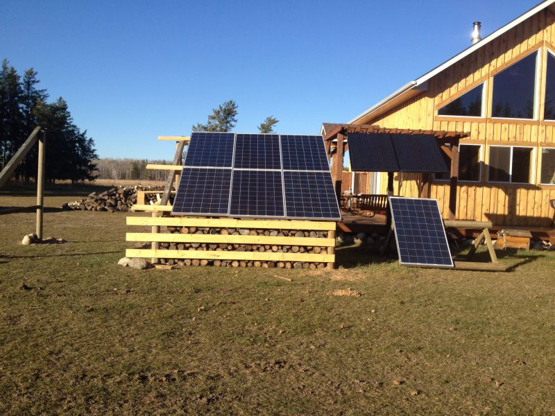 Solar Panel Wood Shed Small Cabin Forum