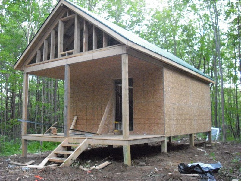 Redfield ny 16 x 20 hemlock small cabin forum 1 for Small hunting cabins