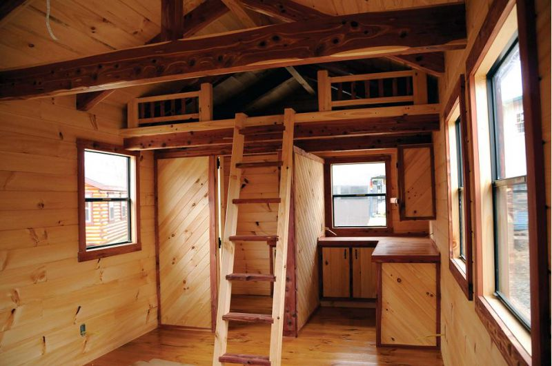 What39s needed for a well designed year round cabin for Log homes interior designs 2