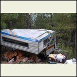 crushed camper, snow load 2003