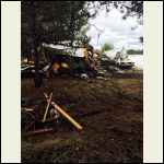 torn down old mobile home