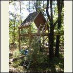 Kids tree house cabin