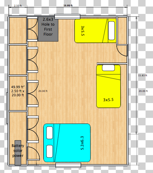 16x24 cabin floor plans pictures to pin on pinterest for Small cabin plans 16 x 24