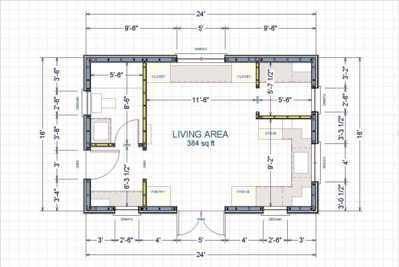 Small cabin plans 16x24 joy studio design gallery best for Floor plan assistance