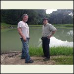 Me and Rick at the pond
