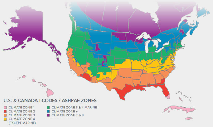 Small Map Of Canada.Climate Zone Map For Us And Canada Small Cabin Forum