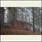 quiet, foggy morning