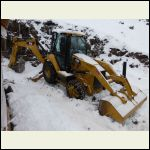 Backhoe on site