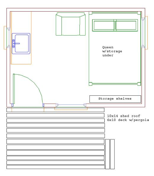 10x14 modern shed small cabin forum 1 for 10x14 shed floor plans
