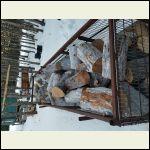 Stocking up the wood pile