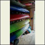 Kayak Shack interior