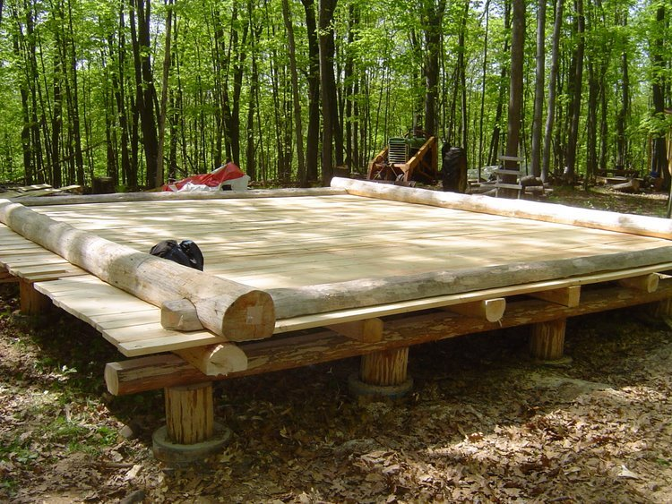 Log cabin foundation options joy studio design gallery for Foundation options for cabins