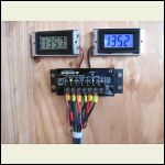 Addition of solar system voltage meters