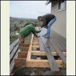 Finishing last section of deck