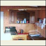 The inside kitchen area (we do most cooking outside on the grill).