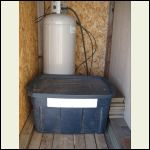 Home-made insulated & vented battery box. This is an outside shed with ample ventilation.