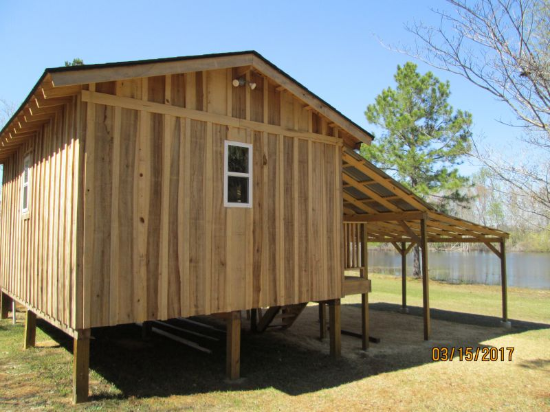 Cabin Built With Lumber From Portable Sawmill Small