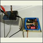 DC converter with temporary battery