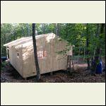 Back of cabin gable