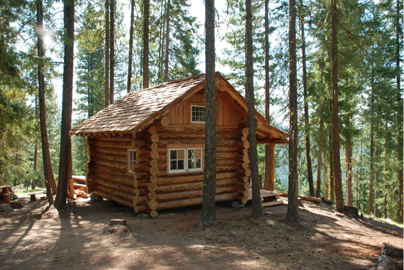 Northwest log cabin 12x16 small cabin forum 1 for How to build a small cabin with a loft