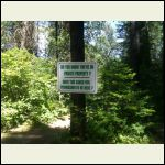 A private property sign