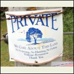 Polite private property sign