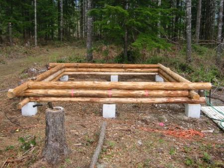 Building my first cabin small cabin forum for Cabin foundation piers