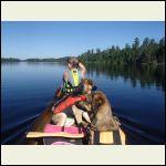 Canoeing for blueberries