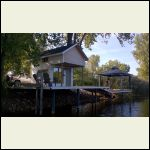 The Cabin and Gazebo Plus Seadoo Lift on a 60 Ft Dock