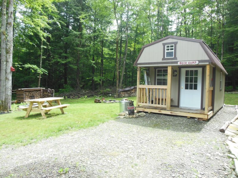 Addition to gambrel shed cabin small cabin forum for Small cabin additions