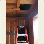 ladder to the loft isn't built yet