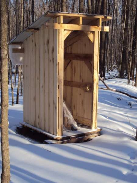 Stump ranch outhouse redesigned based on orders from the boss