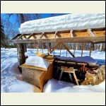 Storage, wood shed. Holds a load