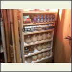 Open closet/first swing out shelf