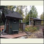 Sauna and outhouse