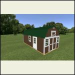 Virtual building. 2 lofts