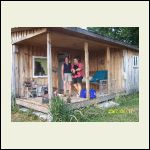 my cabin in Kentucky with my friend and I.